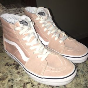 Blush High Top Vans Size 8.5